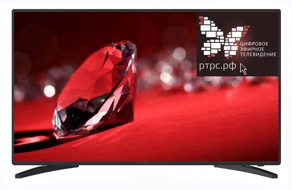 """Телевизор LED 43"""" Rubin RB-43SE9FT2S черный - фото 1"""