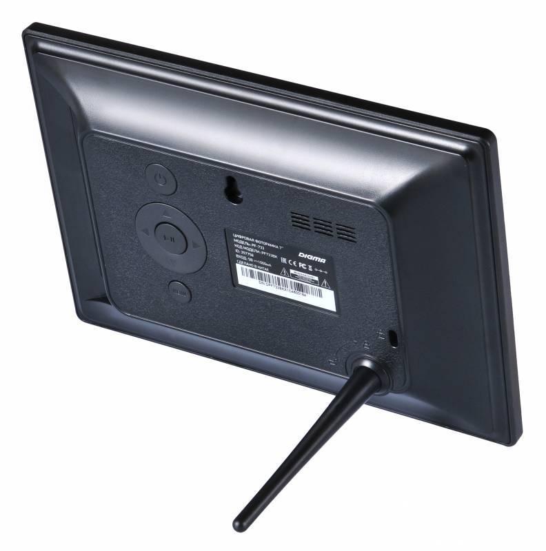 """Цифровая фоторамка 7"""" Digma PF-733 черный - фото 4"""