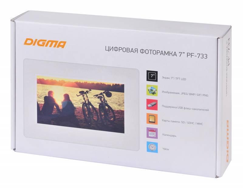 """Цифровая фоторамка 7"""" Digma PF-733 белый (PF733W) - фото 8"""