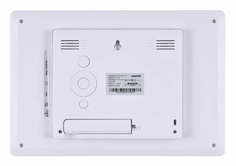 """Цифровая фоторамка 10.1"""" Digma PF-1033 белый (PF1033W) - фото 2"""