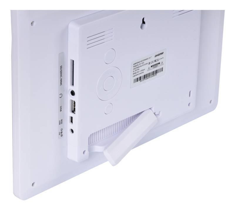 """Цифровая фоторамка 10.1"""" Digma PF-1033 белый (PF1033W) - фото 7"""