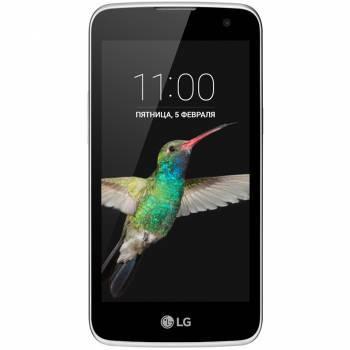Смартфон LG K130E K4 белый, встроенная память 8Gb, дисплей 4.5 854x480, Android 5.1, камера 5Mpix, поддержка 3G, 4G, 2Sim, 802.11bgn, BT, FM радио, microSD до 32Gb (LGK130E.ACISWH)