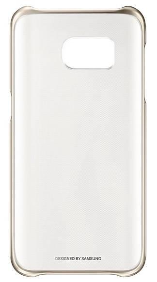 Чехол Samsung Clear Cover, для Samsung Galaxy S7, золотистый/прозрачный (EF-QG930CFEGRU) - фото 1
