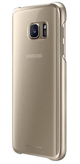 Чехол Samsung Clear Cover, для Samsung Galaxy S7, золотистый/прозрачный (EF-QG930CFEGRU) - фото 2