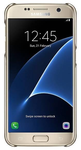Чехол Samsung Clear Cover, для Samsung Galaxy S7, золотистый/прозрачный (EF-QG930CFEGRU) - фото 3
