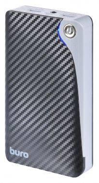 Мобильный аккумулятор Buro RA-12750 черный, емкость батареи 12750mAh Li-Ion, USB разъемов 2, сила тока на выходе 2.1A+1A
