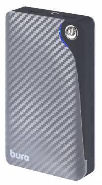 Мобильный аккумулятор Buro RA-11000 серый, емкость батареи 11000mAh Li-Ion, USB разъемов 2, сила тока на выходе 2.1A+1A