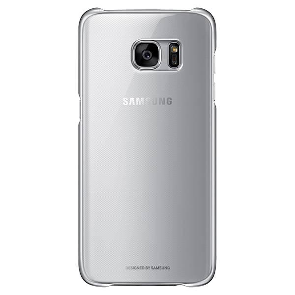Чехол Samsung Clear Cover, для Samsung Galaxy S7 edge, серебристый/прозрачный (EF-QG935CSEGRU) - фото 1