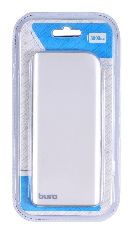 Мобильный аккумулятор BURO RA-8000 серебристый - фото 6