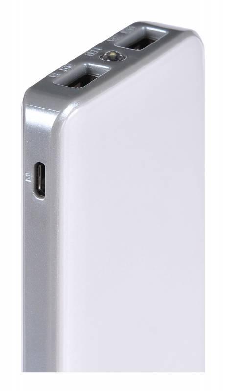 Мобильный аккумулятор BURO RA-8000 серебристый - фото 4