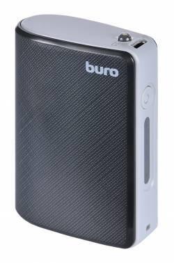 Мобильный аккумулятор Buro RQ-5200 черный, емкость батареи 5200mAh Li-Ion, USB разъемов 1, сила тока на выходе 1A
