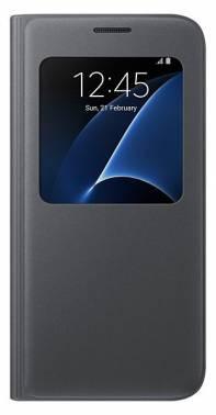 Чехол Samsung S View Cover, для Samsung Galaxy S7, черный (EF-CG930PBEGRU)