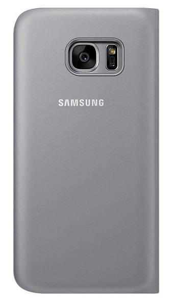 Чехол (флип-кейс) Samsung S View Cover серебристый - фото 1
