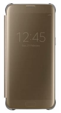 Чехол Samsung Clear View Cover, для Samsung Galaxy S7 edge, золотистый (EF-ZG935CFEGRU)