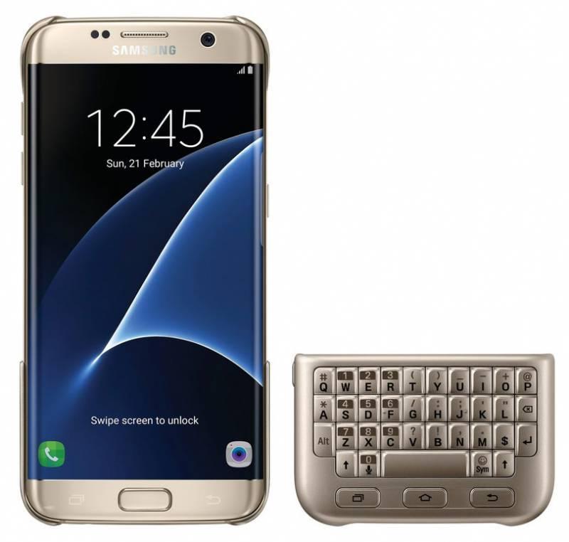 Чехол-клавиатура Samsung Keyboard Cover золотистый - фото 2