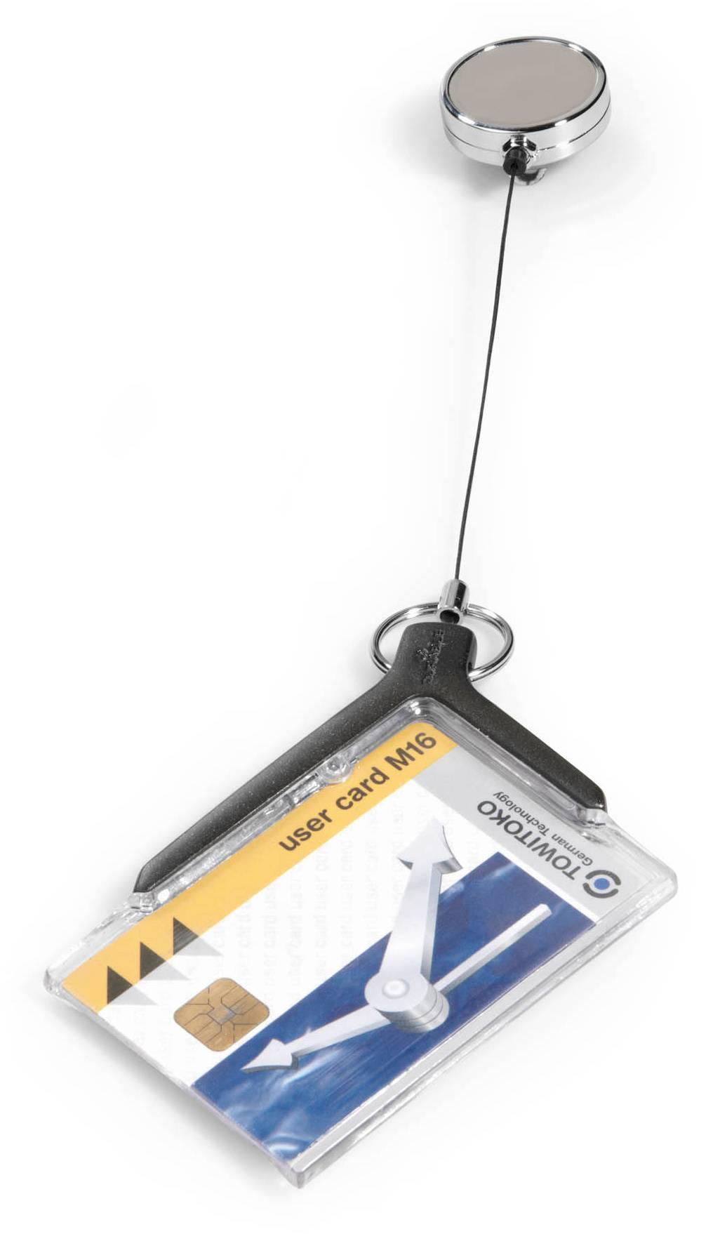 Держатель Durable CARD HOLDER DELUXE PRO 8307-58 серый - фото 1