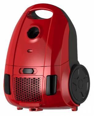 Пылесос Midea VCB43B1 красный, мощность 1600Вт, уборка: сухая, объем пылесборника 3л, мощность всасывания 300Вт, регулировка мощности на корпусе, длина шнура 5м