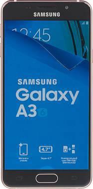 Смартфон Samsung SM-A310F Galaxy A3 (2016) розовый/золотистый, встроенная память 16Gb, дисплей 4.7 1280x720, Android 5.1, камера 13Mpix, поддержка 3G, 4G, 2Sim, WiFi, BT, GPS, FM радио, microSD до 128Gb (SM-A310FEDDSER)