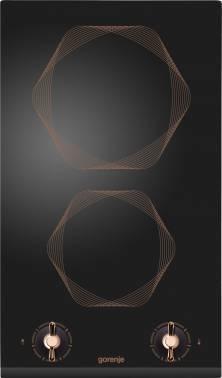 Варочная поверхность Gorenje Infinity EC310INB черный/золотистый, независимая установка, материал поверхности стеклокерамика, электрических конфорок 2