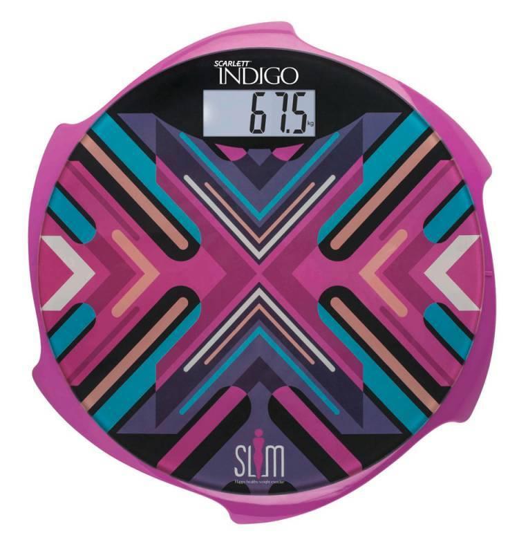 Весы напольные электронные Scarlett IS-BS35E601 пурпурный (IS - BS35E601) - фото 1