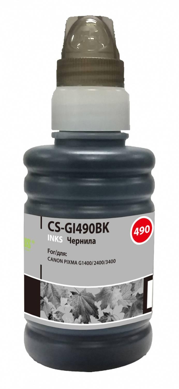 Чернила Cactus CS-GI490BK черный 100мл для Canon Pixma G1400/G2400/G3400 - фото 1
