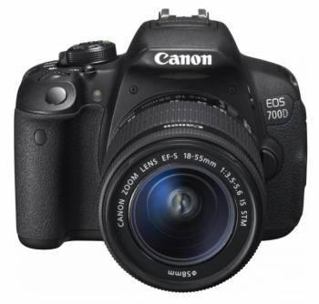 Фотоаппарат Canon EOS 700D черный, 1 объектив EF-S 18-55mm f / 3.5-5.6 DC III