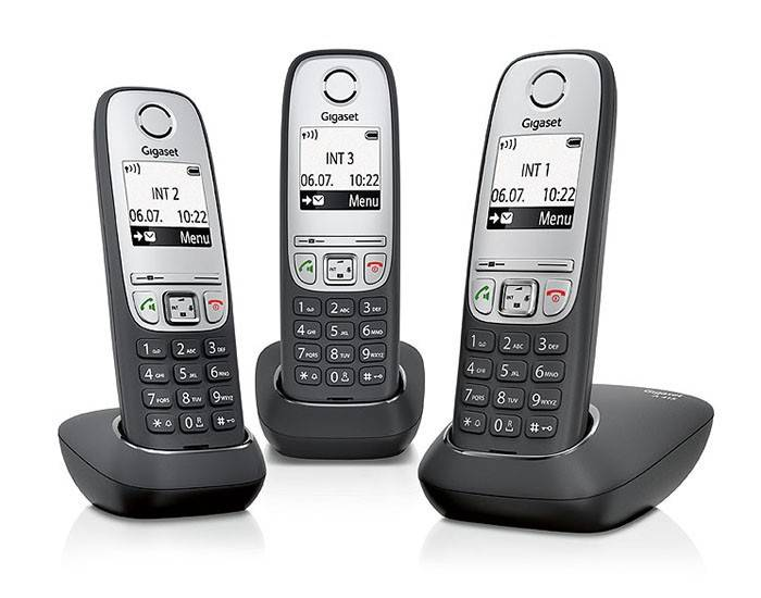 Телефон Gigaset A415 Trio черный/серебристый - фото 1