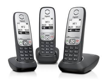 Телефон Gigaset A415 Trio черный/серебристый