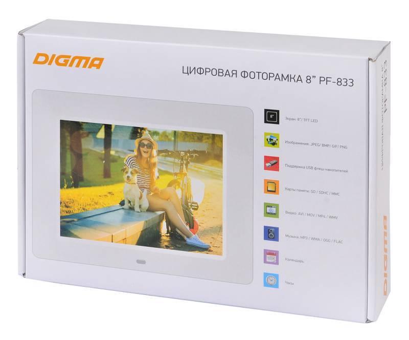"""Цифровая фоторамка 8"""" Digma PF-833 белый (PF833W) - фото 8"""