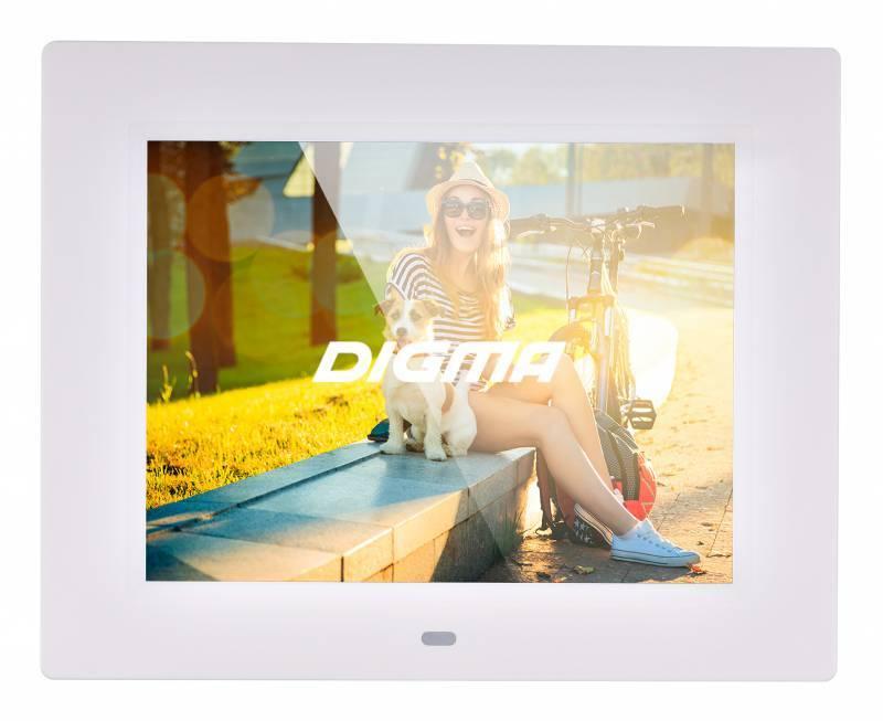 """Цифровая фоторамка 8"""" Digma PF-833 белый (PF833W) - фото 1"""