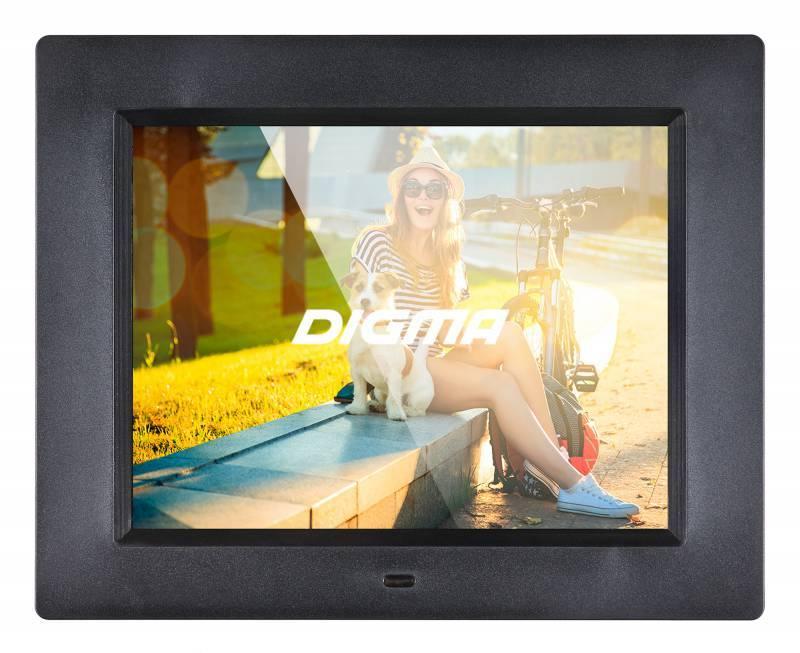 "Цифровая фоторамка 8"" Digma PF-833 черный (PF833BK) - фото 1"