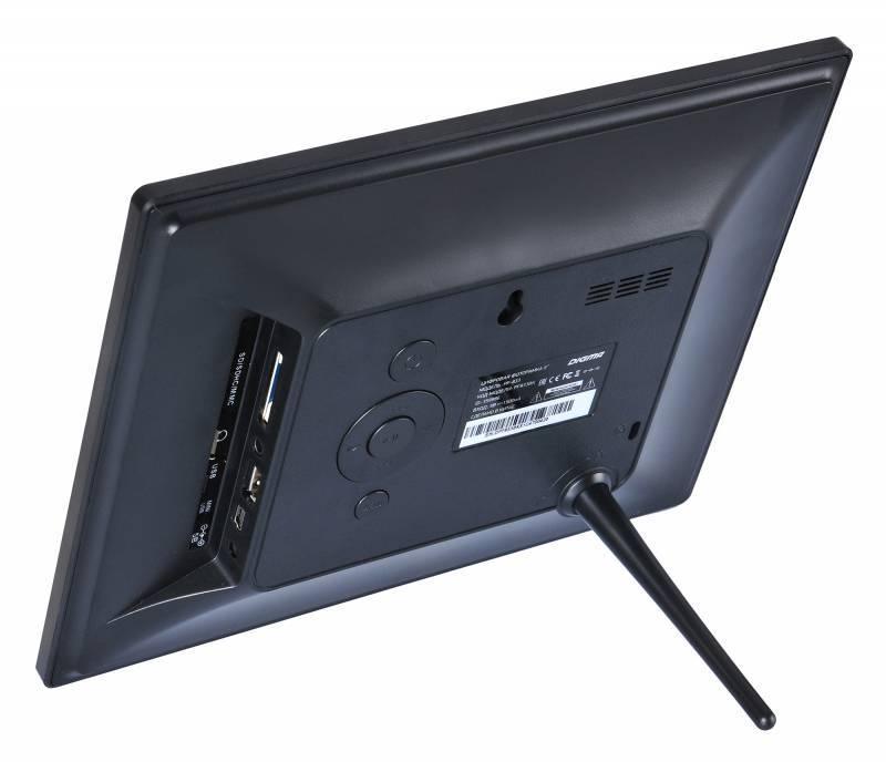 "Цифровая фоторамка 8"" Digma PF-833 черный (PF833BK) - фото 4"