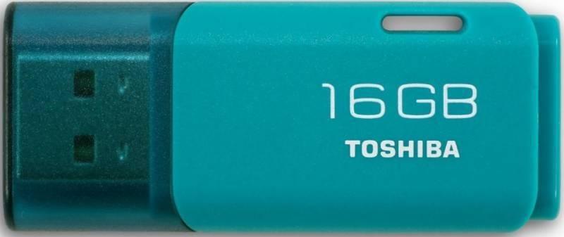 Флешка Toshiba Hayabusa U202 16ГБ USB2.0 голубой (THN-U202L0160E4) - фото 1