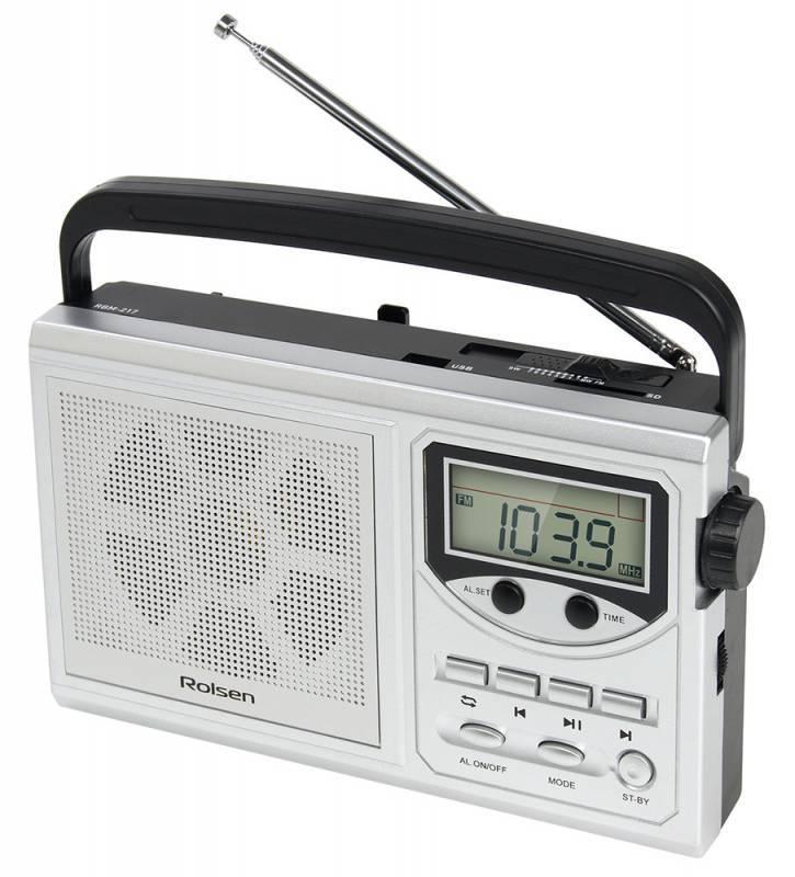Радиобудильник Rolsen RBM-217SL серебристый - фото 2