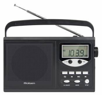 Радиобудильник Rolsen RBM-217BL черный
