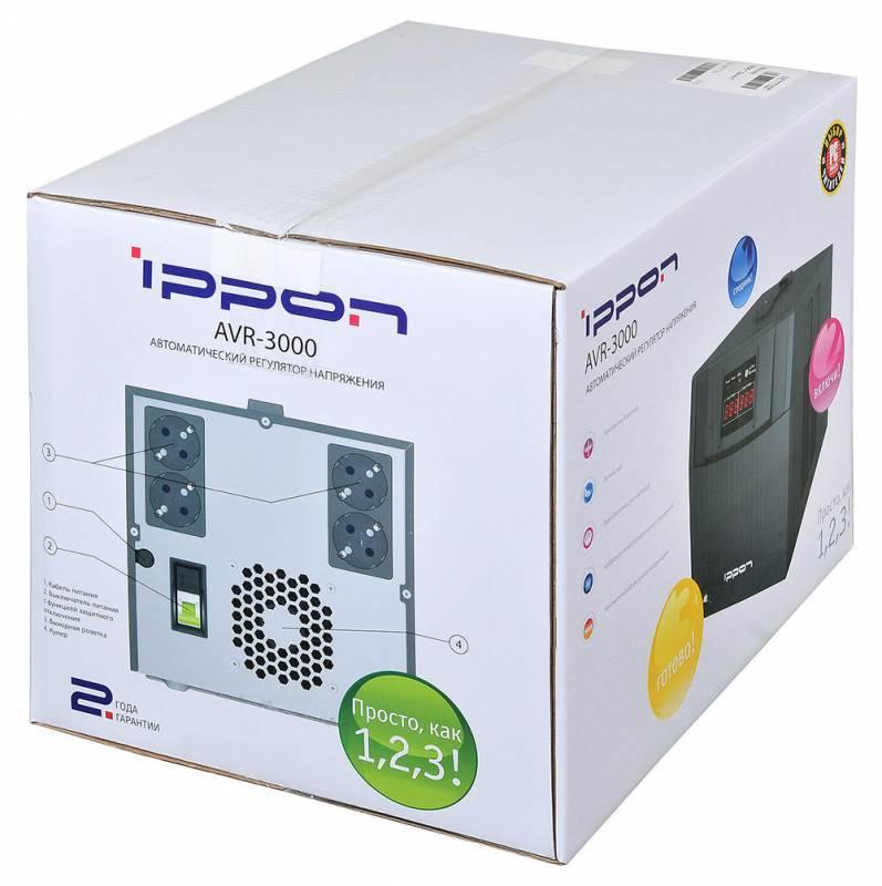 Стабилизатор напряжения Ippon AVR-3000 (361015) - фото 12