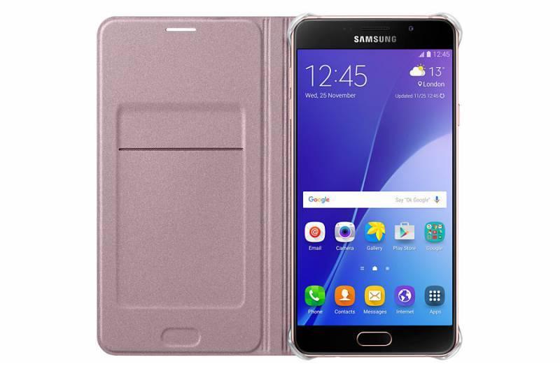 Чехол Samsung Flip Wallet, для Samsung Galaxy A7 (2016), розовое золото (EF-WA710PZEGRU) - фото 2