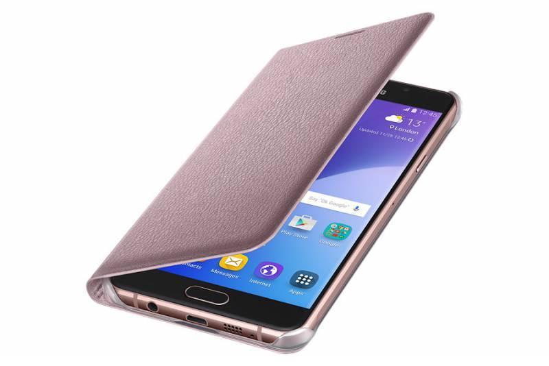 Чехол Samsung Flip Wallet, для Samsung Galaxy A7 (2016), розовое золото (EF-WA710PZEGRU) - фото 3