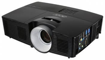 Проектор Acer P1387W черный, технология DLP, яркость 4500Lm, разрешение 1280x800, контраст 17000:1, ресурс лампы до 4000 часов, 1xHDMI, вес 2.5кг