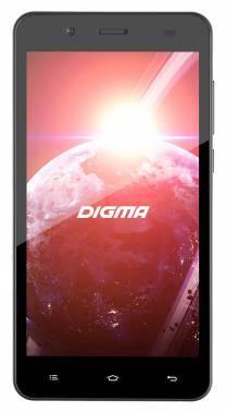 Смартфон Digma Linx C500 3G графит, встроенная память 4Gb, дисплей 5 854x480, Android 5.1, камера 2Mpix, поддержка 3G, 2Sim, WiFi, BT, GPS, FM радио, microSDHC до 32Gb (LT5001PG)