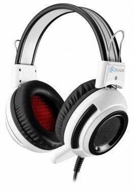 Наушники с микрофоном Oklick HS-G300 белый / черный