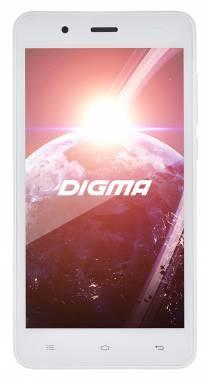 Смартфон Digma Linx C500 3G белый, встроенная память 4Gb, дисплей 5 854x480, Android 5.1, камера 2Mpix, поддержка 3G, 2Sim, WiFi, BT, GPS, FM радио, microSDHC до 32Gb (LT5001PG)