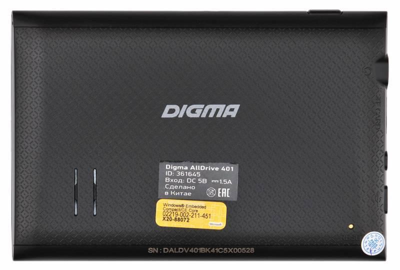 "GPS-навигатор Digma ALLDRIVE 401 4.3"" черный - фото 2"