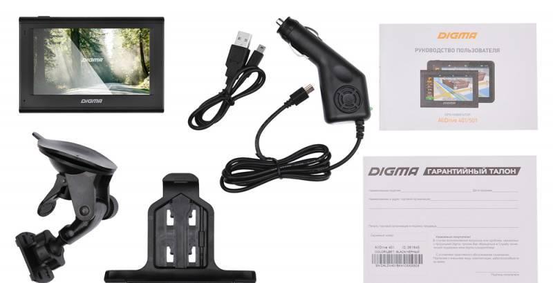 "GPS-навигатор Digma ALLDRIVE 401 4.3"" черный - фото 11"