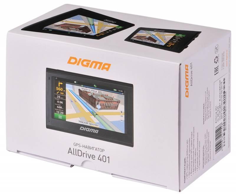 "GPS-навигатор Digma ALLDRIVE 401 4.3"" черный - фото 12"