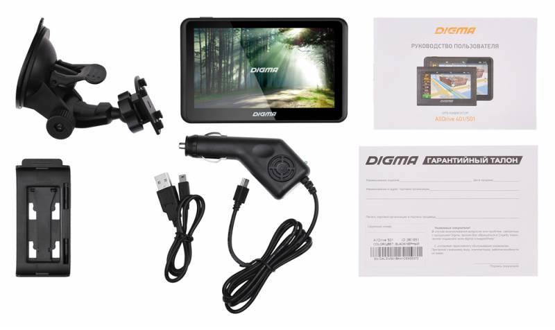 "GPS-навигатор Digma ALLDRIVE 501 5"" черный - фото 11"