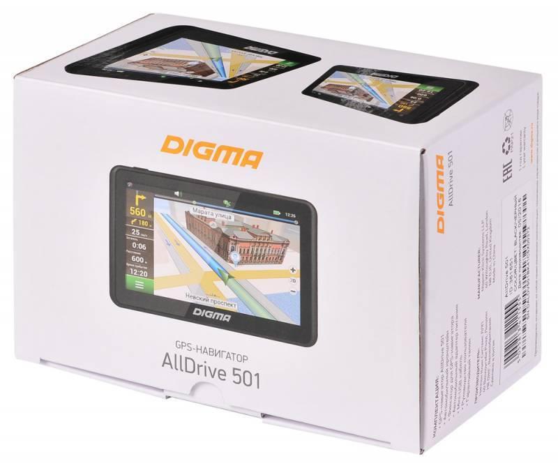 "GPS-навигатор Digma ALLDRIVE 501 5"" черный - фото 12"