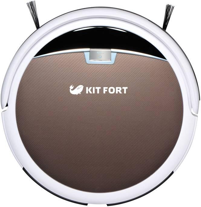 Робот-пылесос Kitfort КТ-519-4 коричневый/белый - фото 1