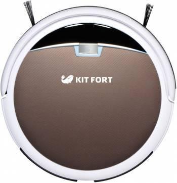 Робот-пылесос Kitfort КТ-519-4 коричневый / белый