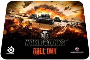 Мышь Steelseries Sensei Raw World Of Tanks +коврик черный / серый